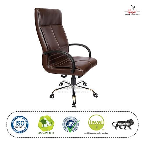Rose Zeta Executive High Back Chair (Brown)