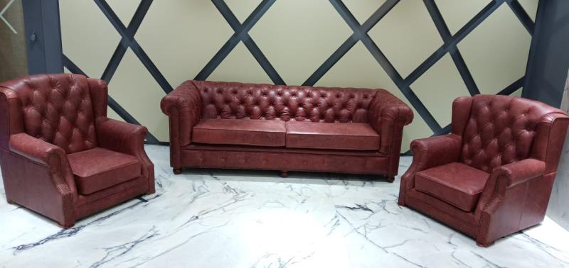 Customized Italian Leather Sofa