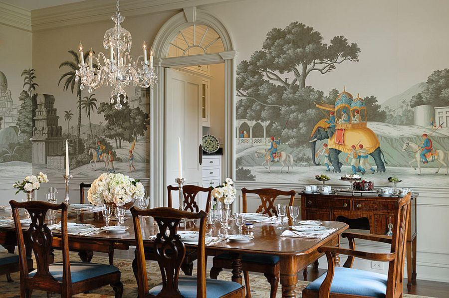 Dining Room Wallpaper Idea