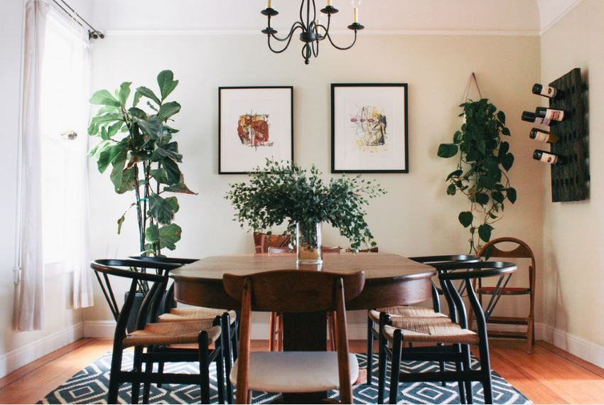 Dining Room Decor With Plants