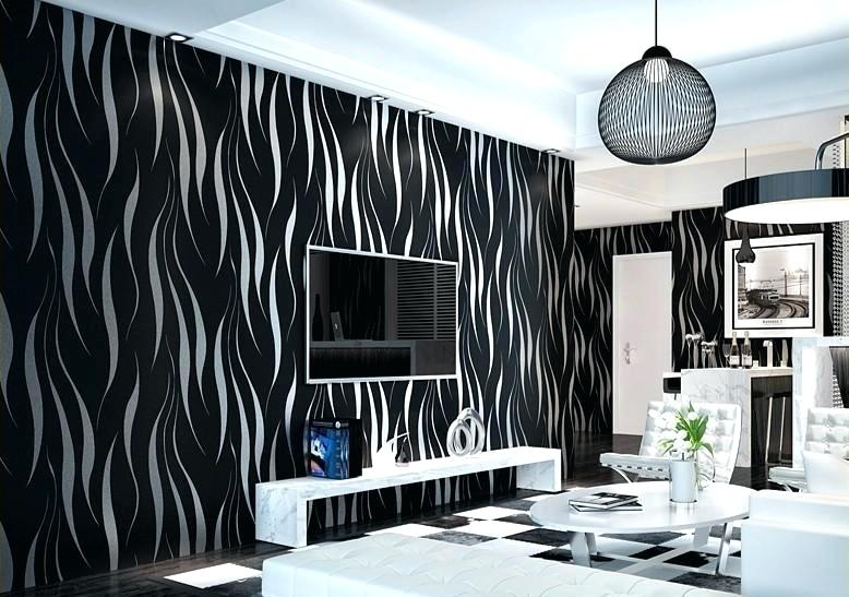 black-and-silver-living-room-living-room-wallpaper