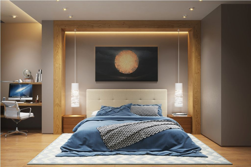 bedroom swooping lighting