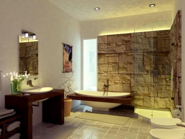 Multiple lighting source in bathroom