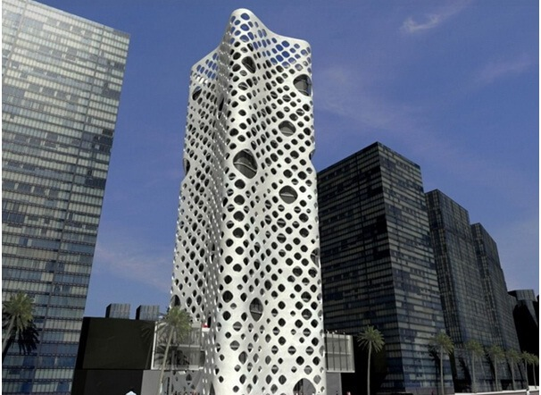 Laser Cut Architecture Building