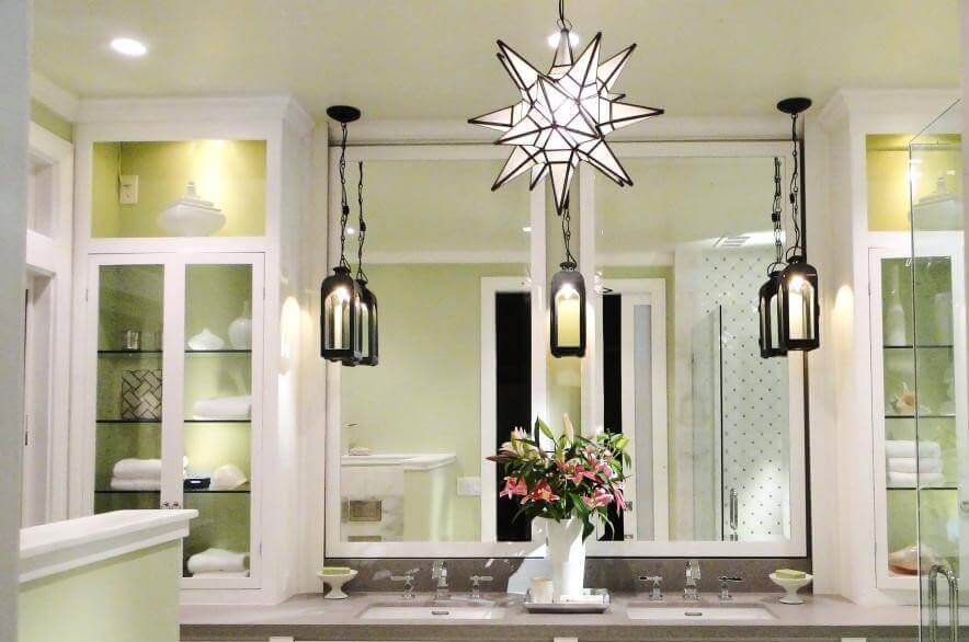 Bathroom Geometric Lighting Ideas