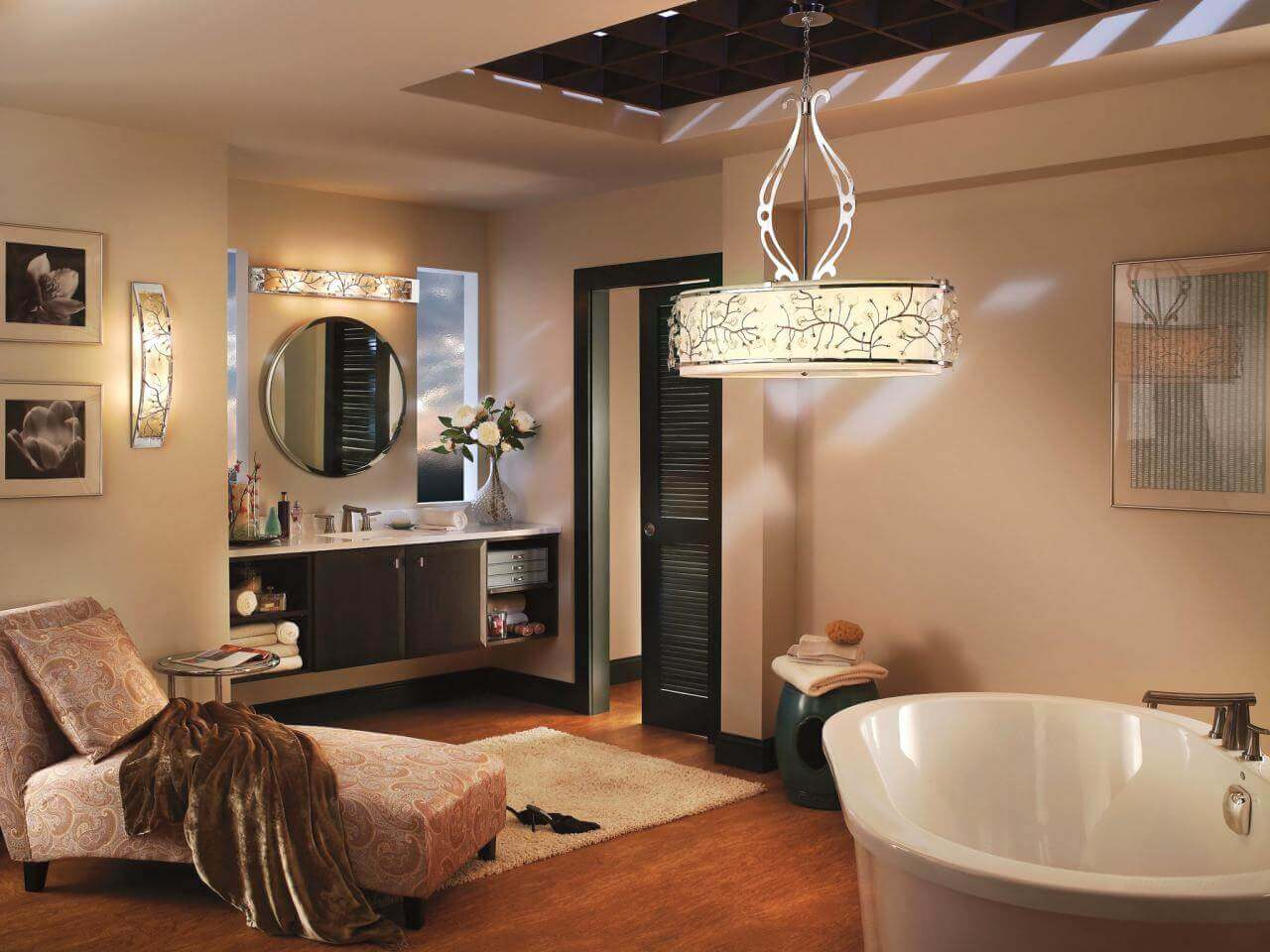 Indoor - outdoor Bathroom Lighting Ideas