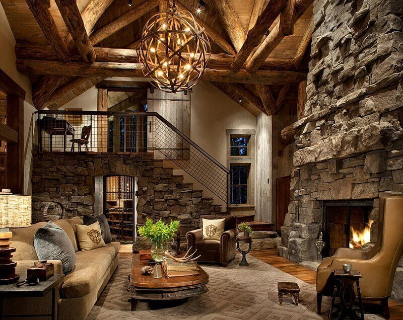 Cabin Style Living Room