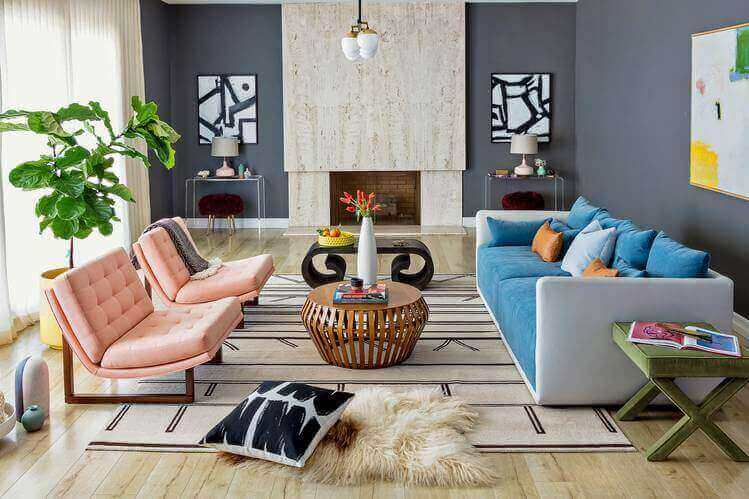 Mid-Century Style Living Room