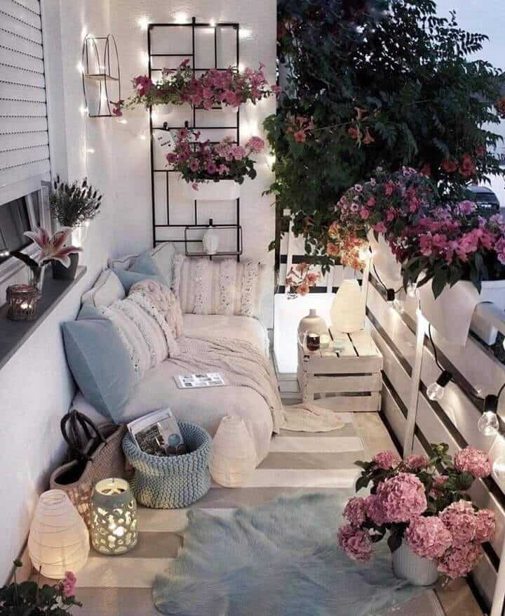 Add Some Privacy With Flowers in Balcony