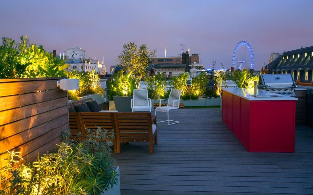 Rooftop Dining Space