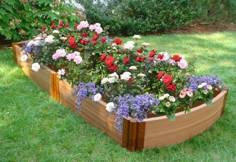 Different Colored Flower Beds