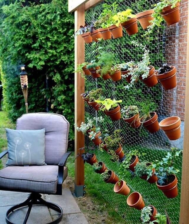 Use Plain Chicken Wire in Vertical Garden
