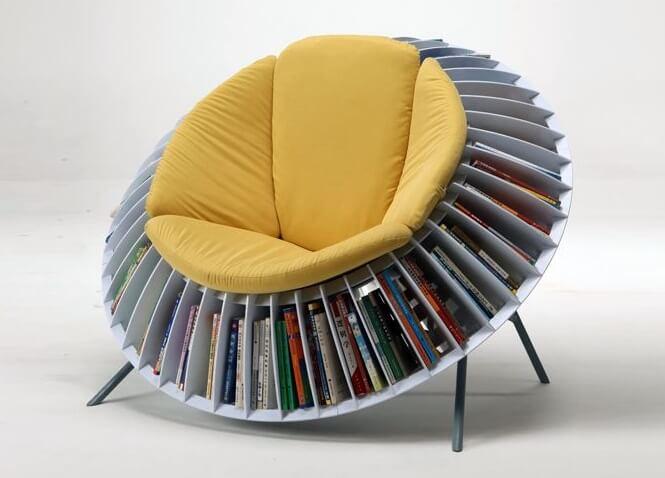 Chair with Bookshelf
