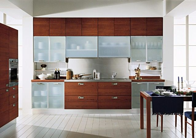 Glass Doors Cabinets Gives a Spacious View