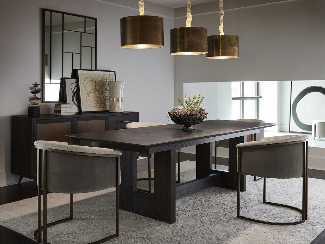 Use Semi-Flush Light for Dining Room