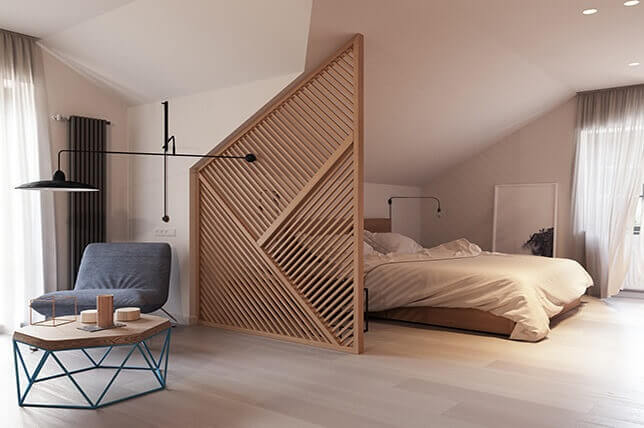 Wooden Divider Walls