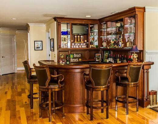 Rustic Home Bar