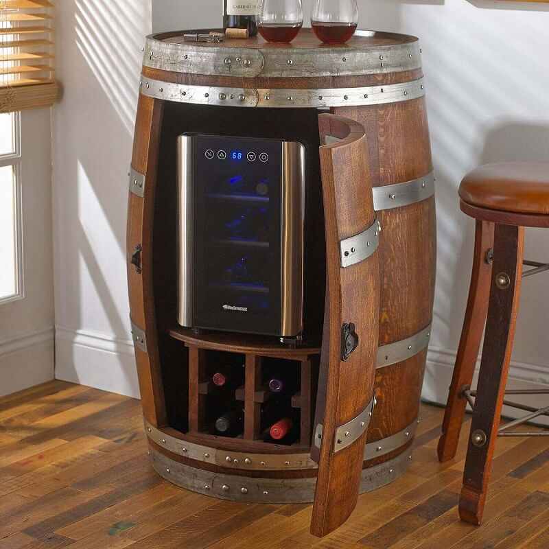 Wooden Barrel Bar