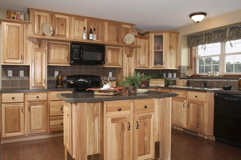 Stained Pine Cabinets