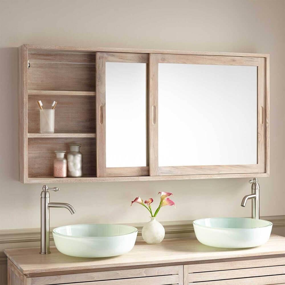 Mirror on Bathroom Wall Cabinet