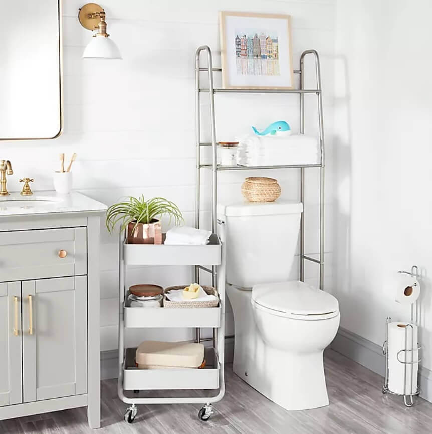 The Use of Metals in Bathroom for Storage