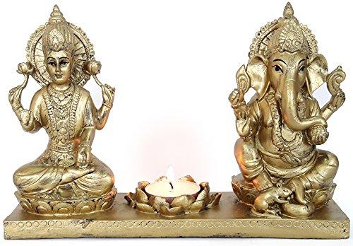 Brass Lakshmi Ganesha Idol Handmade