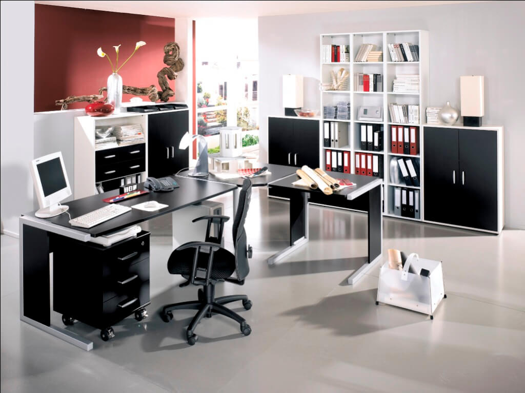 Office Decor Ideas: Make a Bright Look of the Workspace