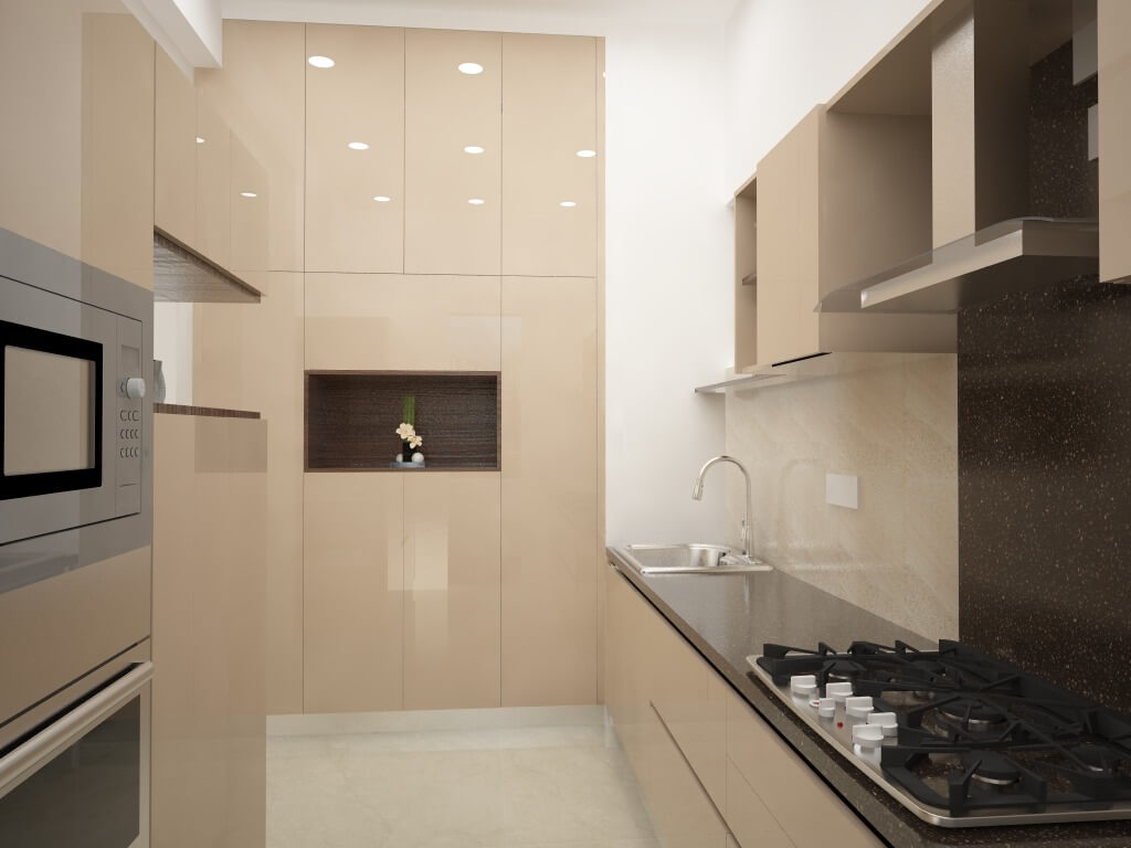 Smooth Modular kitchen Design