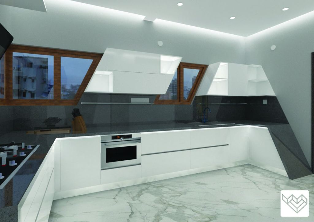 Black Granite Kitchen Counter Top