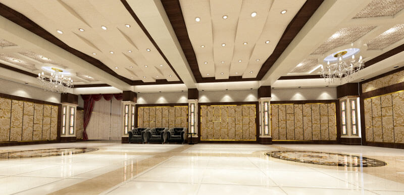 Banquet Hall Design and 3D Visualization