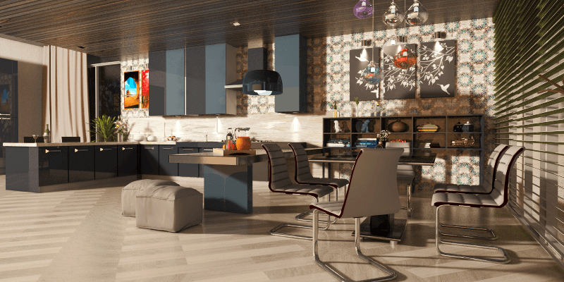 Contemporary Kitchen And Dining Design