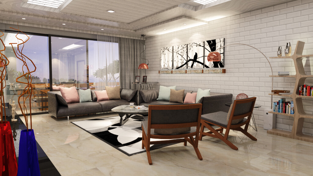 Living Room Design With Color Options