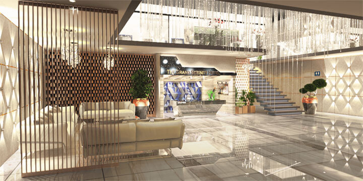 Hotel Reception and Entrance Plaza  Design