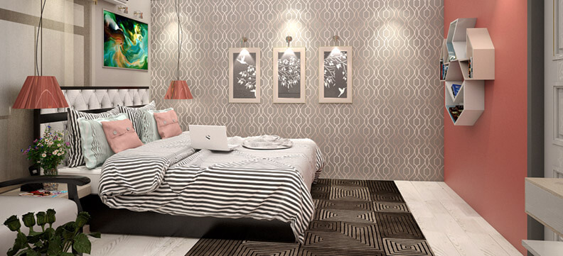 Bedroom Cool and Relexing  Theme Design