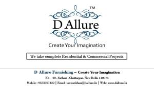 D Allure Furnishing ™ - Create Your Imagination
